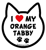 I Love My Orange Tabby cat head magnet - NEW!