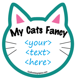 """My Cats Fancy <....>"" Cat Head Magnet - create your own! *NEW*"