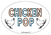 Chicken Pop oval magnet - NEW!