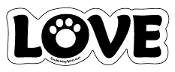 LOVE word magnet - White accent paw *NEW*