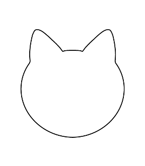 Customize-Your-Own Cat Head Magnet, Pack of 50