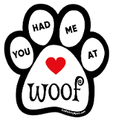You Had Me at Woof paw magnet *bargain bin*