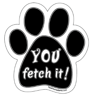 YOU fetch it! paw magnet *NEW*