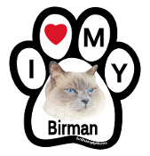 I Love My Birman Paw Magnet - NEW!