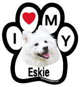 I Love My Eskie Paw Magnet - NEW!