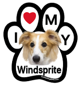 I Love My Windsprite Paw Magnet (soft hair) - NEW!