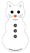 Cat Snowman Magnet - NEW!