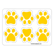 Mini Paw Magnets 6pk - Gold / Yellow *NEW*