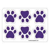 Mini Paw Magnets 6pk - Purple *NEW*