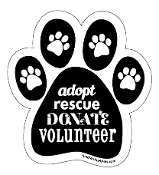 Adopt Rescue Donate Volunteer paw magnet - black *bargain bin*