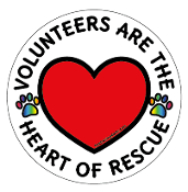 Volunteers Are The Heart Of Rescue circle magnet *NEW*