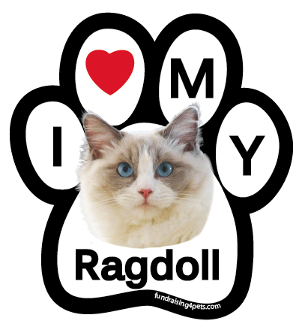 I Love My Ragdoll Paw Magnet - NEW!