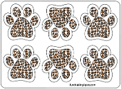 Mini Paw Magnets 6pk - Leopard *NEW*