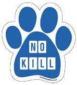 No Kill paw magnet -  blocks, blue *NEW*