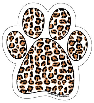 Leopard Print paw magnet *NEW*