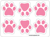 Mini Paw Magnets 6pk - Pink *NEW*