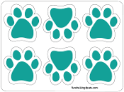 Mini Paw Magnets 6pk - Teal *NEW*
