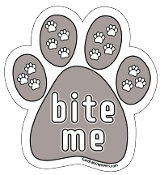 Bite Me paw magnet *NEW*