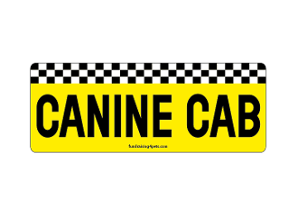 Canine Cab rectangle magnet *NEW*