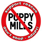 No Puppy Mills circle magnet *NEW*