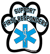 Support First Responders paw magnet *bargain bin*