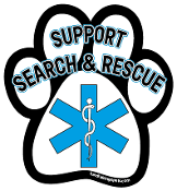 Support Search & Rescue paw magnet *NEW*