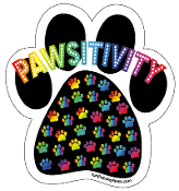 Pawsitivity Paw Print Magnet *NEW, UPDATED VERSION*