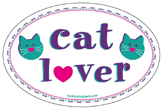 Cat Lover oval magnet - NEW!