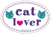 Cat Lover oval magnet *bargain bin*