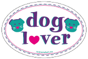 Dog Lover oval magnet - NEW!