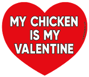 My Chicken Is My Valentine heart magnet *NEW*