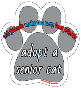 Adopt a Senior Cat paw magnet *NEW*