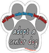 Adopt a Senior Dog paw magnet *NEW*