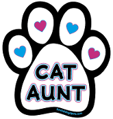 Cat Aunt paw magnet *NEW*