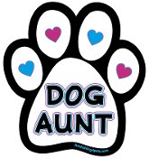 Dog Aunt paw magnet *NEW*