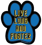 Live Long and Foster paw magnet - NEW!