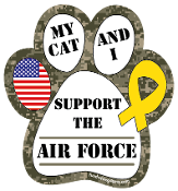 My Cat and I Support the Air Force paw magnet - NEW!