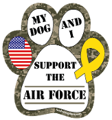 My Dog and I Support the Air Force paw magnet - NEW!