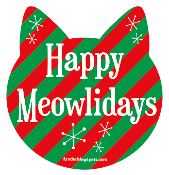 Happy Meowlidays cat head magnet - NEW!