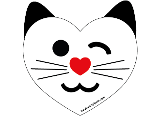 Heart Shaped Cat Face magnet *NEW*