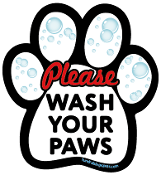 Please Wash Your Paws paw magnet - NEW!