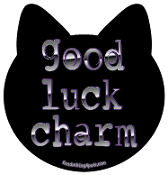 Good Luck Charm cat head magnet *NEW*