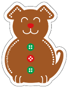 Gingerbread Dog magnet - NEW!